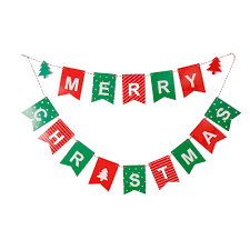 International Bunting Flags Merry Christmas Letter Garland Bunting Banner Christmas Flags