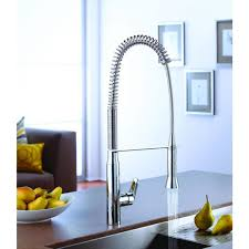 Pro Kitchen Faucet by Grohe K7 Semi Pro Single Handle Pull Out Sprayer Kitchen Faucet In