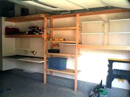 shelves easiest diy garage shelving unit free plans wooden
