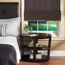 home decorators collection espresso fine weave bamboo roman shade