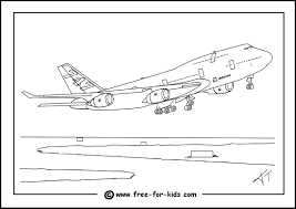 Coloring Charming Planes Colour Boeing 747 Colouring