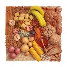 alimenti ricchi di glucidi carboidrati â foto stock â egal 8999885