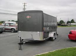 Enclosed Trailer Awning For Sale Carry On 7 X 16 Enclosed Cargo Trailer Rear Ramp Door