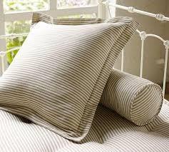 stripe pillow cover euro brownstone pottery barn