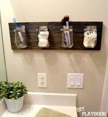 Diy Bathroom Shelving Ideas How To Create A Mason Jar Organizer For Your Bathroom Space