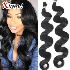 crochet black weave hair high quality 18 80g synthetic hair extension weave black body