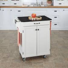 crosley mahogany kitchen cart with black granite top kf30024ema