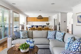 Blue And White Interiors Living Rooms Kitchens Bedrooms And More - Blue living room color schemes