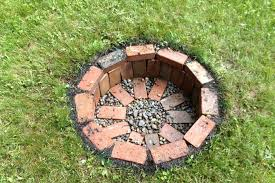 Home Made Firepit Cheap Easy Pit Pit Landscaping Ideas Design