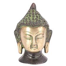 Buddha Home Decor Statues Indianshelf Handmade Brass Buddha Head Statue Hindu Jain God
