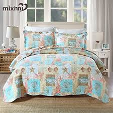 Bedding Quilt Sets Mixinni Seashell Bedding Quilt Set Theme