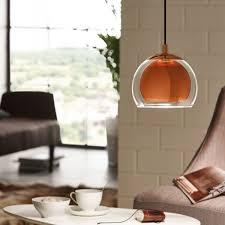 Wohnzimmer Bar Beleuchtet Licht Trend Join Pendelleuchte Mit Klarglas Kupfer