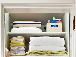 linen cabinet and closet organization ideas hgtv