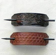 leather hair accessories leather hair barrettes hair hair barrettes