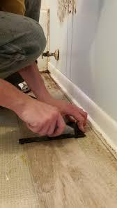 How To Install Mannington Laminate Flooring Diy Plank Vinyl Floor Bathroom Update Flip This Rental
