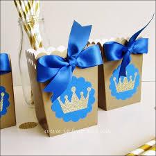 Royal Prince Decorations Royal Prince Popcorn Favor Boxes Popcorn Favors Royal Prince