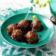 thanksgiving turkey glaze pomegranate glazed turkey meatballs recipe taste of home