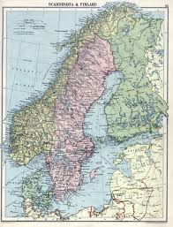 Scandinavia On Map Large Detailed Old Political Map Of Scandinavia With Relief U2013 1920