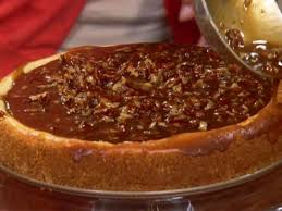 peggy s cheesecake with praline topping recipe paula deen