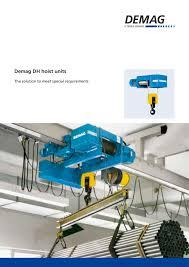 dh hoist units terex cranes france material handling pdf