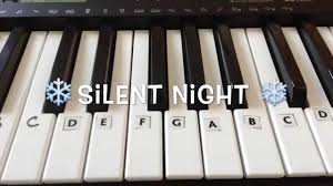 silent night easy christmas piano tutorial with notes youtube