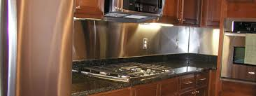 kitchen with stainless steel backsplash plain design stainless steel backsplash sheets stainless steel