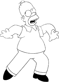 homer simpson coloring