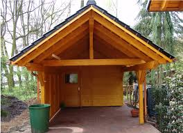 single carport bsh saddle roof garden house wood shop imanada home