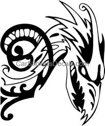 tribal dragon sticker 129 u0026 decal car stickers decals