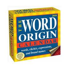 word origin 2018 calendar paperback gregory mcnamee target