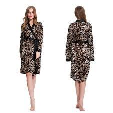 robe de chambre leopard leopard silk robe silk robe robe silk sleepwear