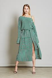 cold shoulder dress large stripe cold shoulder dress robert rodriguez