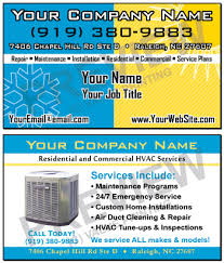 Commercial Business Card Printer Free Design Fast Shipping On Hvac Business Cards And More