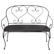Wrought Iron Outdoor Swing by Furniture Custom Wrought Iron Bench For Your Garden Furniture