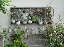 Outdoor Planter Ideas by Hanging Garden Ideas Zandalus Net