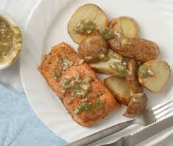 Salmon With Dill Mustard Sauce by Brown Sugar Salmon And Roasted Potatoes With Maple Mustard Dill