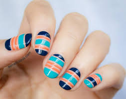 14 striped nail art tutorials to try now brit co
