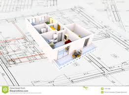 3d apartment plan royalty free stock image image 17917566