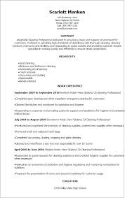 House Cleaning Resume Examples by Sample Resume Cleaner Hotel Templates