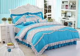 Girls Bedding Sets by Blue Polka Dot Girls Princess Bowtie Ruffled Bedding Sets Cheap