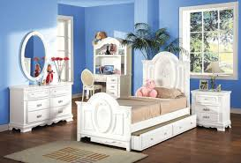 White Twin Trundle Bedroom Set Flora Modern Kid U0027s Bedroom In White By Acme W Optional Trundle