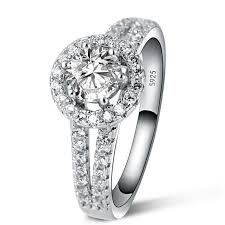 sterling diamond rings images Best quality 1 ct princess cut created diamond solid 925 sterling jpg