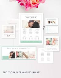 Business Card Design Pricing Wedding Photographer Marketing Set Photo Business Cards