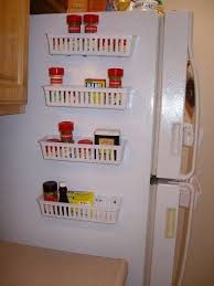 kitchen organization ideas budget cheap baskets glue gun magnets adjustable refrigerator