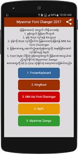 zawgyi one apk myanmar font changer 2017 1mobile