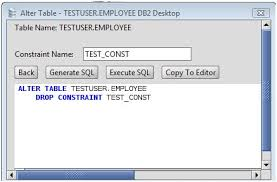 db2 alter table add column db2 drop constraint from a db2 database table via the alter table
