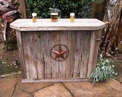 Handmade Wooden Outdoor Furniture by Hand Made Weathered Wood Outdoor Bar And You Can Choose The