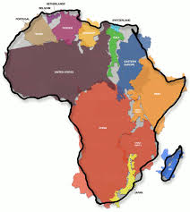 map world africa the true size of africa our maps been misleading for
