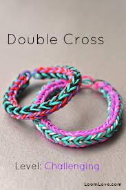 looms bracelet easy images How to make a double cross rainbow loom bracelet jpg