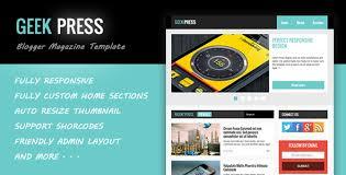 geek press u2013 responsive news u0026 magazine template